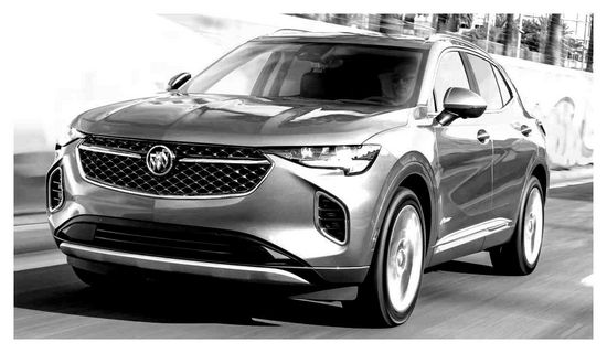 buick, envision, 2021, пятно